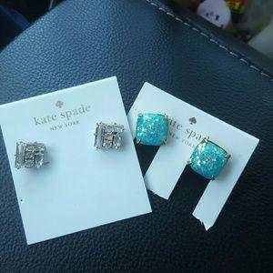 2 kate spade earrings